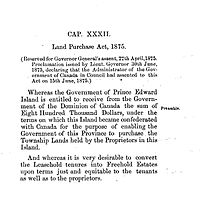 Title and preamble to the Land Purchase Act, 1875