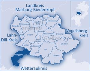 Langgöns - Image: Landkreis Gießen Langgöns