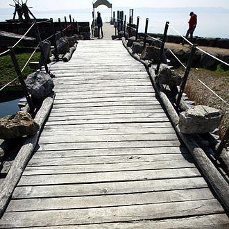 La Tène culture - Reconstruction of one of the bridges at the La Tène site