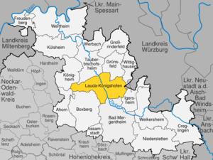Lauda-Königshofen - Image: Lauda Königshofen im Main Tauber Kreis