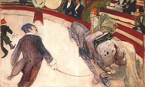 The Circus (Seurat) - Image: Lautrec equestrienne (at the cirque fernando) 1887 8