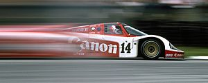 1985 World Sportscar Championship - Richard Lloyd Racing Porsche 956 contesting the Le Mans round of the 1985 World Endurance Championship