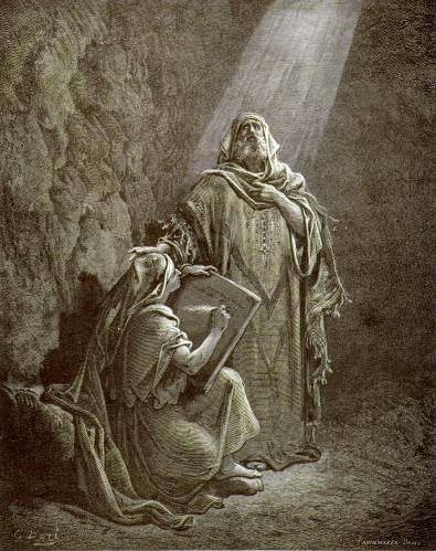 Le Prophète Jérémie à la dictée, gravure de Gustave Doré