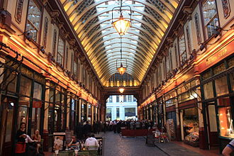 Leadenhall Market - East Arcade of Leadenhall Market
