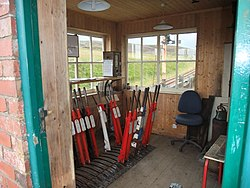 Leadhills Railway Station -10. Interior of Signal Box.jpg
