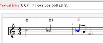 Impro-Visor - Rendering Leadsheet Notation