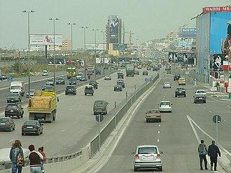 Matn District - Metn coastal highway at Dbayeh