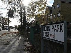 Lee, corrected street sign in Horn Park Lane - geograph.org.uk - 1046362.jpg