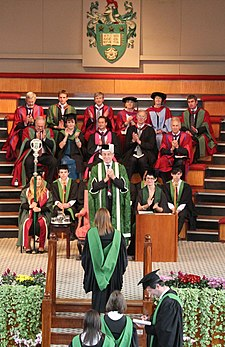 The Great Hall is the venue for graduation ceremonies Leeds University graduation in the Great Hall 2012.jpg