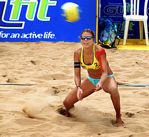 Beach volley Brazilian player Leila Barros in 2007