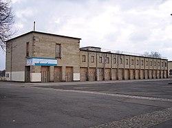 Leipzig Schwimmstadion Nordtribuene Kassenhalle2.JPG