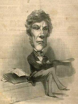 Léon Faucher - Caricature of Léon Faucher, French politician and economist