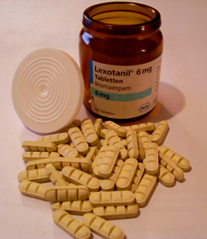 Bromazepam - 50 Pills of Lexotanil (containing 6 mg of Bromezepam apiece) as sold by Hoffmann-La Roche in Germany