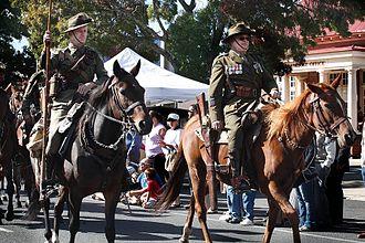 Ballan, Victoria - Ballan Autumn Festival Light Horse re-enactors