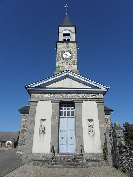 Église Saint-Éloi de Lillemer (35). Façade occidentale.