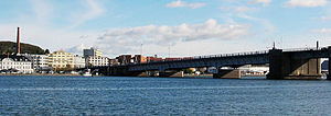Nørresundby - Limfjordsbroen, the bridge linking Nørresundby with Aalborg over the Limfjord