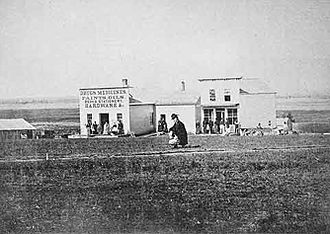 Lincoln, Nebraska - Lincoln, as seen in 1868