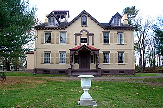 Martin Van Buren National Historic Site - Front of the house facing the Albany Post Road