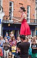 Lindsay Benner juggles with fire at the Hat Fair, Winchester - geograph.org.uk - 870801.jpg