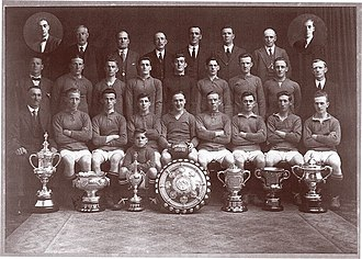 Linfield F.C. - The team that lifted an unprecedented seven trophies in the 1921–22 season.
