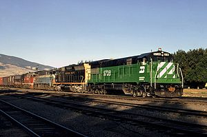 Burlington Northern Railroad - Image: Livingston 8 71 Flickr drewj 1946
