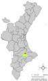 Localització de Beniarrés respecte el País Valencià.png