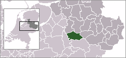 Location of Deventer in افریسل, هلند