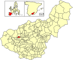Location of Fuente Vaqueros