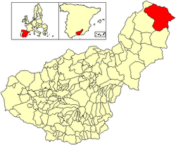 Location of Puebla de Don Fadrique