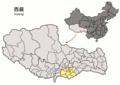 Location of Nêdong within Xizang (China).png