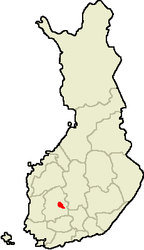 Location of Tampere in Finland