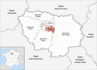Lage des Val-de-Marne