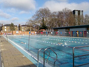 Greenwich Leisure Limited - London Fields Lido in Hackney, run by GLL.