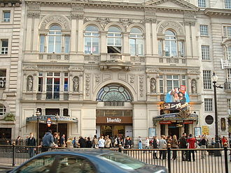 Thomas Verity - Entrance to the Criterion Theatre and Restaurant (1874), Piccadilly Circus, shown in 2007