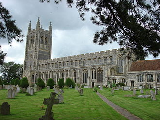 Wool church - Holy Trinity Church, Long Melford, Suffolk, a classic wool church