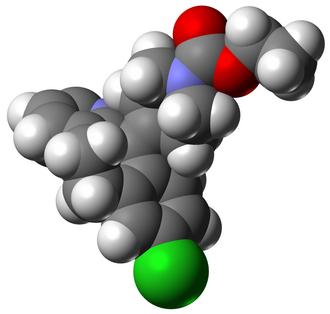 Avogadro (software) - Space-filling model of loratadine created using Avogadro.