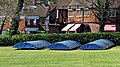 Loughton Cricket Club cricket pitch covers at Loughton, Essex, England 01.jpg