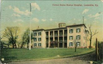 United States Marine Hospital of Louisville - Old postcard view of hospital