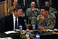 Lt. Gen. William B. Caldwell IV, commander NATO Training Mission - Afghanistan, talks with the Honorable Michael Donley (4330636160).jpg