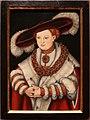 Lucas cranach il vecchio, ritratto di maddalena di sassonia, moglie dell'elettore gioacchino II di brandeburgo, 1529 ca.jpg