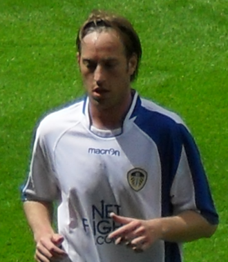 Luciano Becchio - Becchio playing for Leeds United in 2009