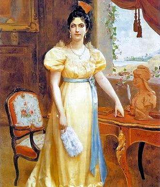 Luisa Cáceres de Arismendi - A posthumous portrait of Luisa Cáceres de Arismendi by Emilio Jacinto Mauri
