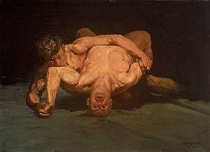 The Wrestlers (Luks) - Image: Luks Wrestlers 1905