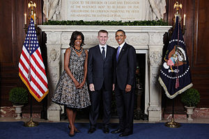 Igor Lukšić - Igor Luksic with First Lady Michelle Obama and President of the United States Barack Obama
