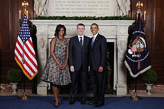 Igor Lukšić - Igor Luksic with First Lady Michelle Obama and President of the United States Barack Obama