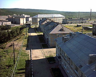 Inhabited locality in Murmansk Oblast, Russia