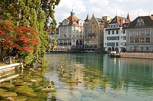Die Reuss in Luzern