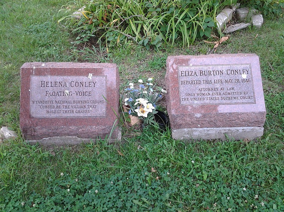 Lyda Conley Gravesite - Huron Cemetery - Kansas City, KS - July 2015