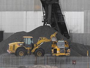 Lynemouth power station - Ash from the station is usually either landfilled or recycled in the construction industry