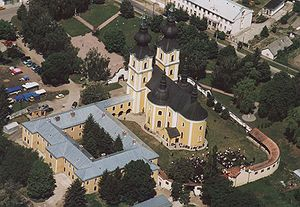 Máriapócs - Aerialphotography of the church